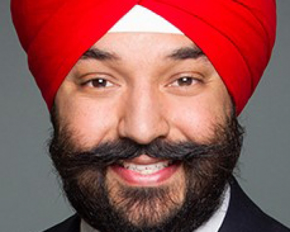 The Honourable Navdeep Bains, Canada's Minister of Innovation, Science and Economic Development